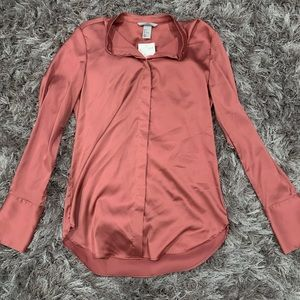 H&M silk like blouse